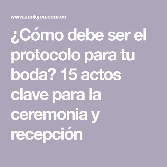 De protocolo colombia recepcion boda