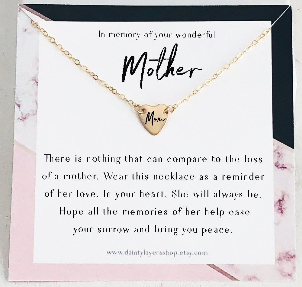 Loss of mother remembrance gift personalized