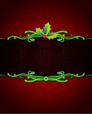 Mistletoe on Beautiful Red Holiday Background. vector art illustration