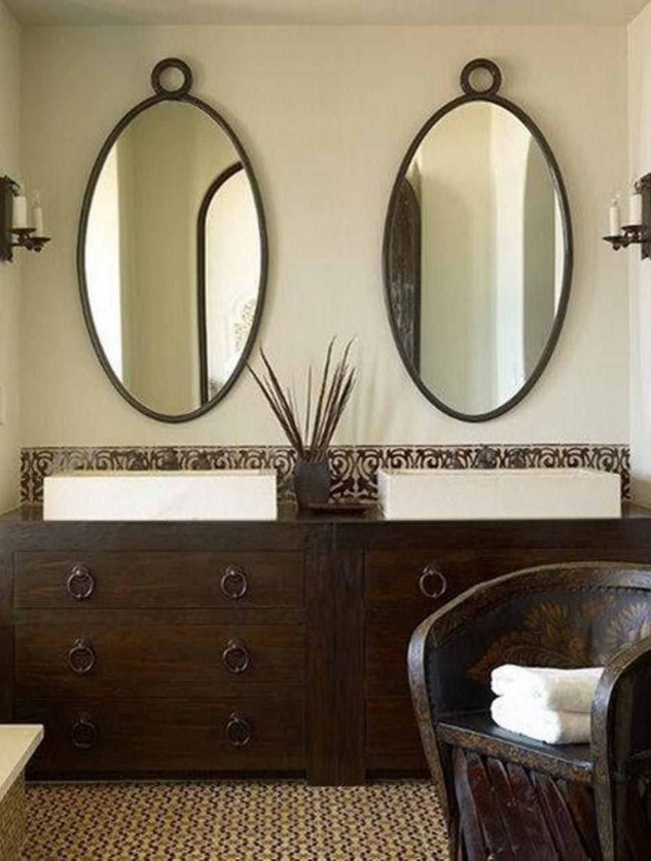 Oval Shaped Bathroom Mirrors Oval Mirror Bathroom Decorative