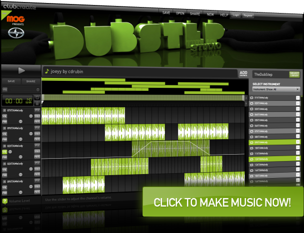 Looplabs free online music mixing software. Dubstep