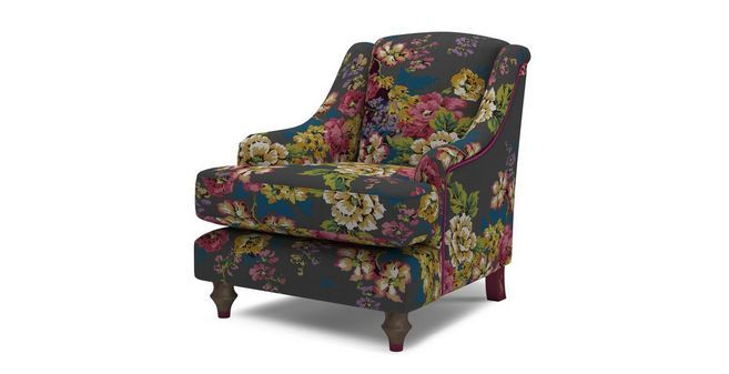 Surprising Cambridge Cotton Accent Chair Cambridge Floral Cotton Dfs Andrewgaddart Wooden Chair Designs For Living Room Andrewgaddartcom