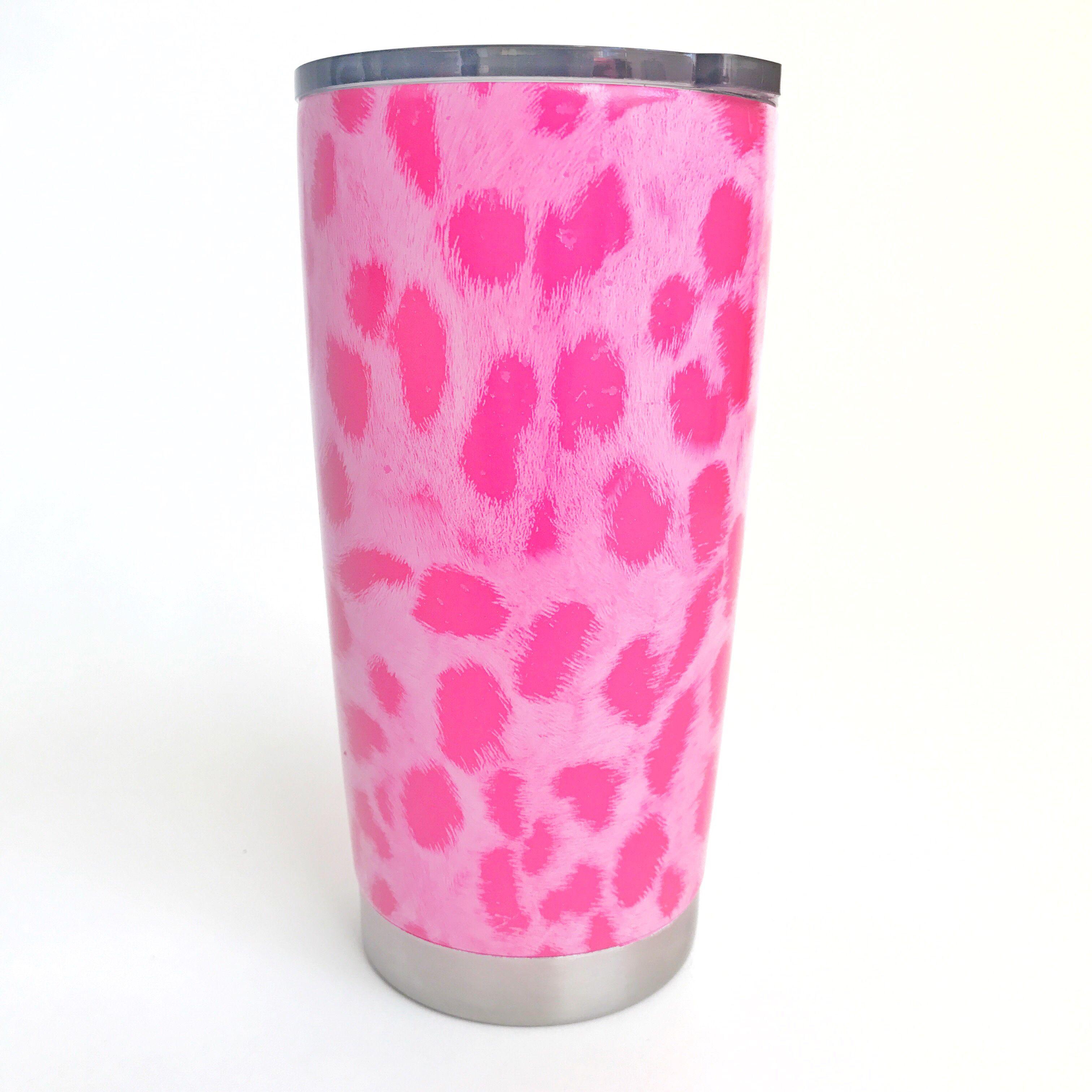 Pink tumbler.
