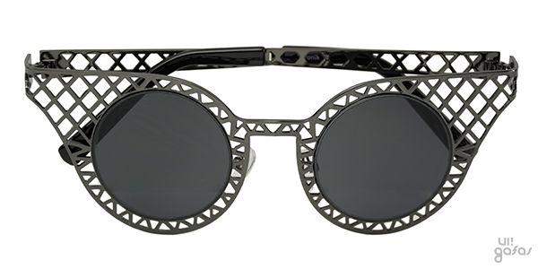 Óculos De Sol Gatinha Com Grade Vazada Em Metal    Ui! Gafas   Tronik -  UI431 603819dc8d