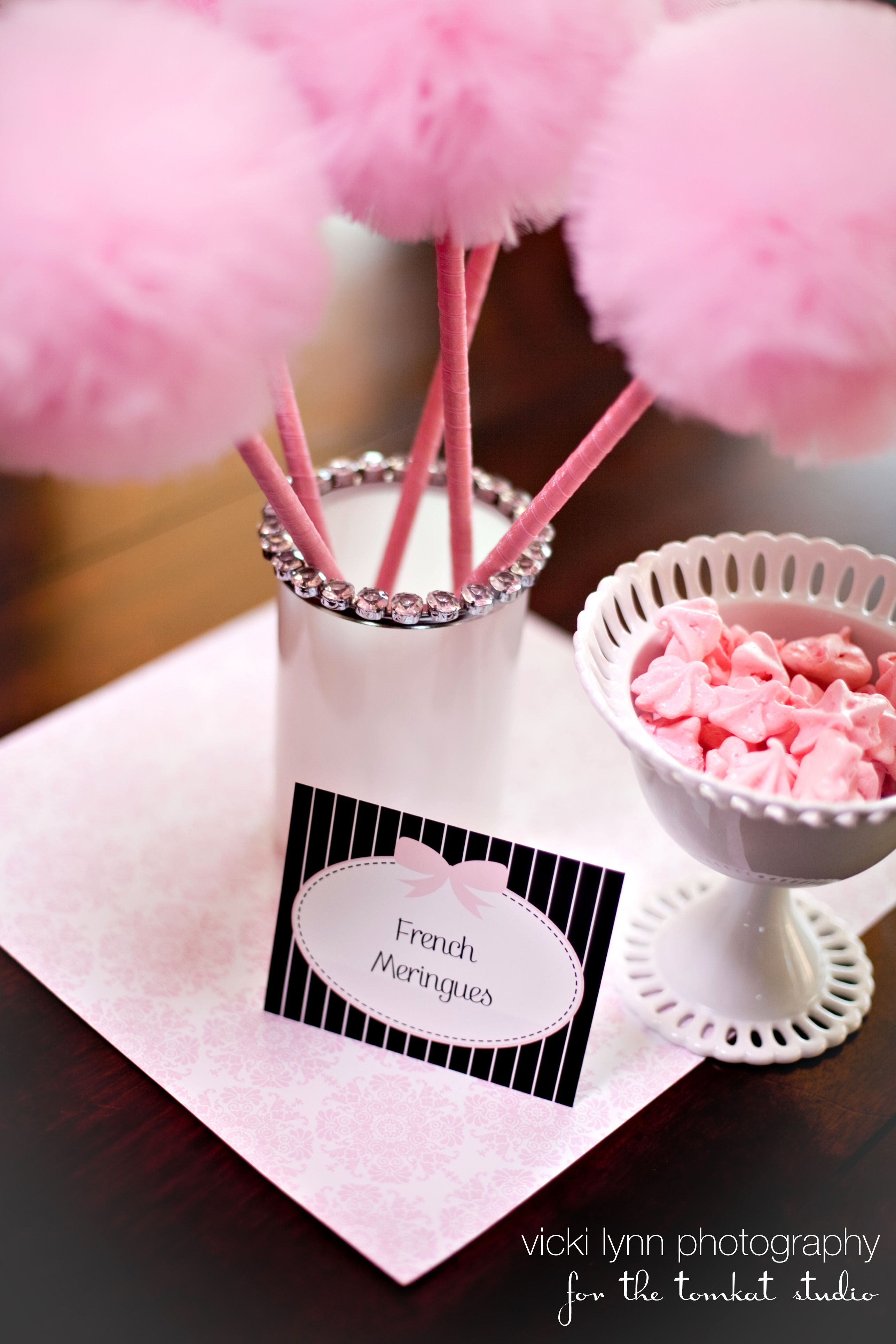 Tulle Pom Poms Wands As seen in The Tomkat Studio | Modern Chic ...