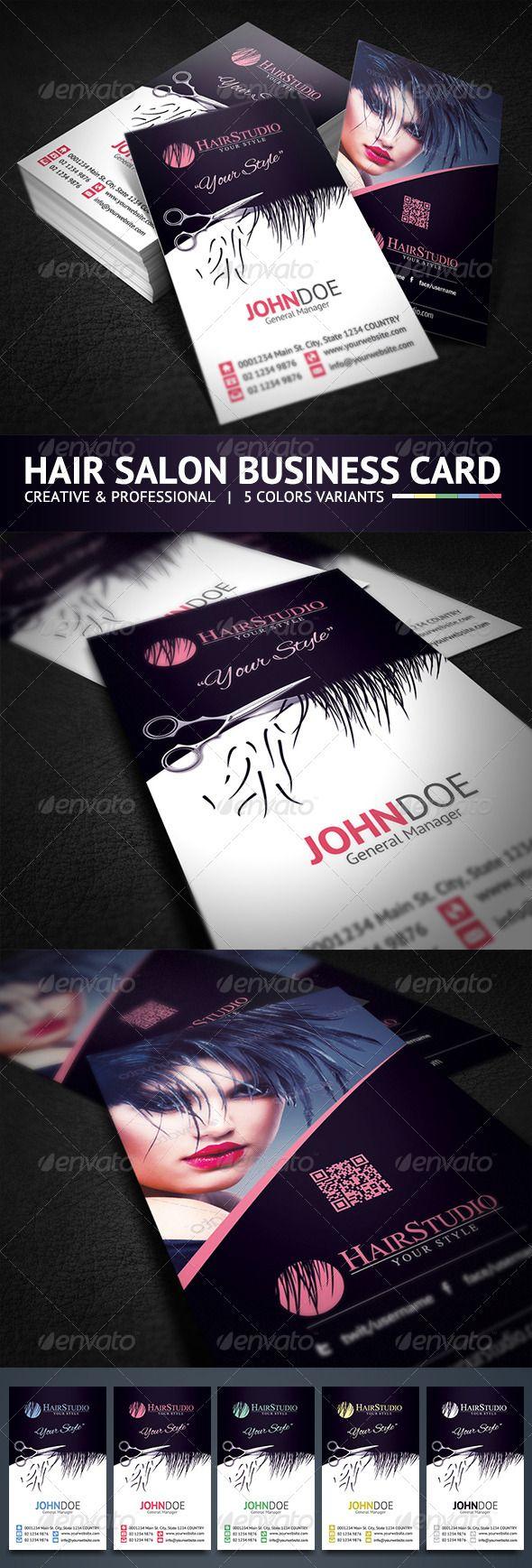 Creative Hair Salon Business Card   Pinterest   Business cards ...