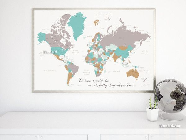 Adventure quote world map with countries and states labelled large adventure quote world map with countries and states labelled large to live would be gumiabroncs Image collections