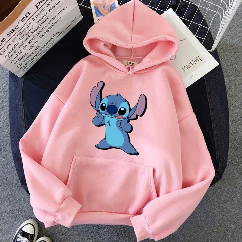 Anime Kawaii Hoodie Femmes Cartoon Graphique Imprimé Hoodies Jeune Monster Casual Hoodies 2020 Sweatshirts | Sweats à capuche et sweat-shirts | – AliExpress   – lilo and stich