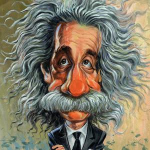 Albert Einstein Van Art Albert Einstein Poster Caricature Albert Einstein