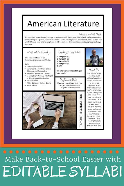 free syllabus templates for teachers the start of school