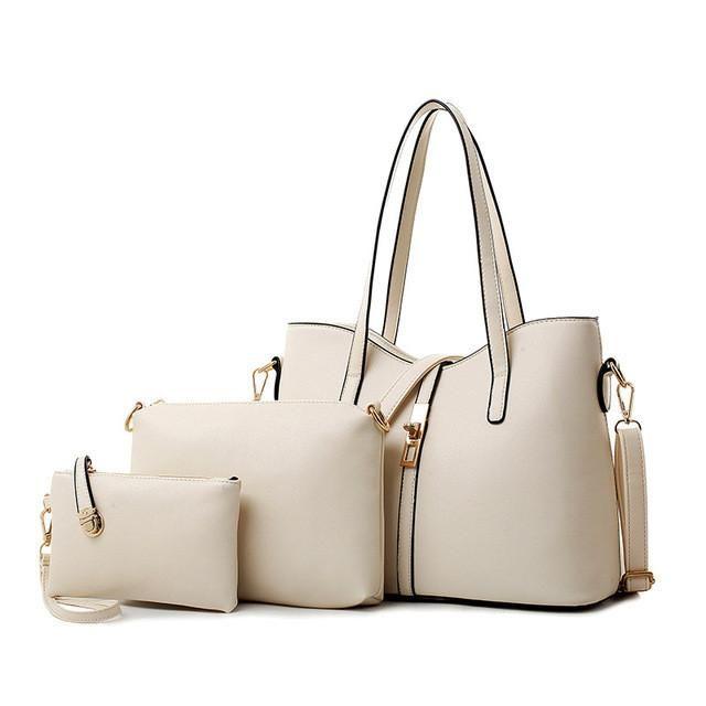dc113c57f56 Channels Women Handbags Famous Designer Purses and Handbags 2016 New  Fashion Messenger Bags 3 Sets Leather Handbag Tote Bolsas