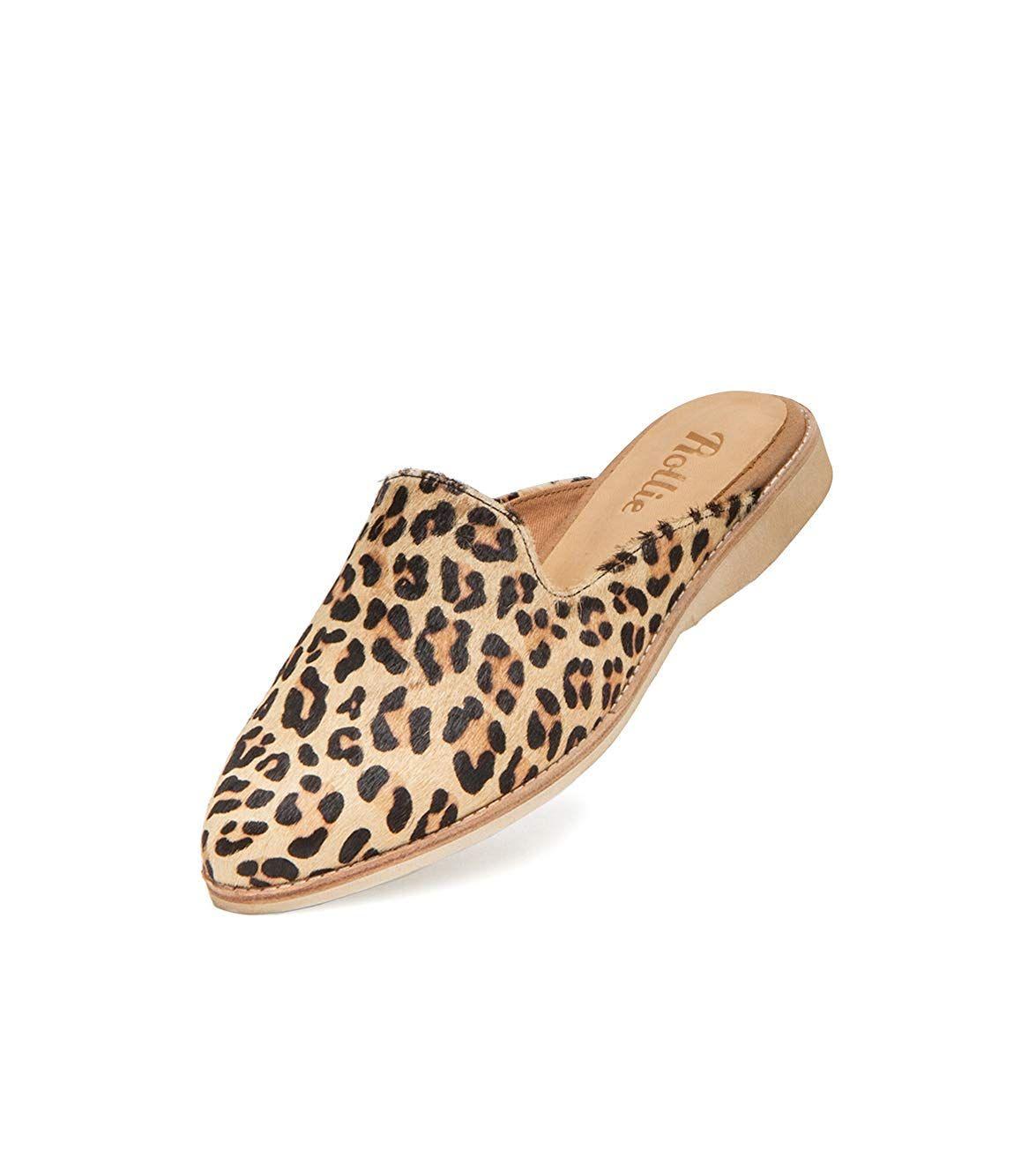 d92573e560026 Amazon.com | Rollie Women's Leopard Animal Print Madison Mule Camel ...