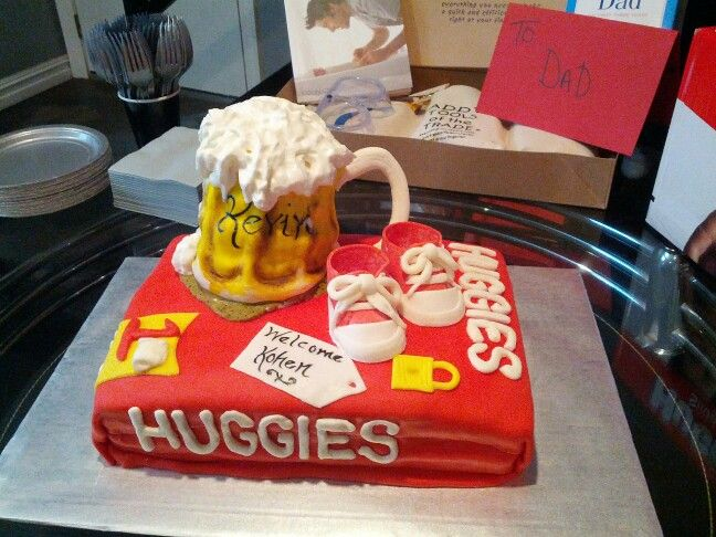 Huggies For Chuggies Diaper Party Cake Baby Shower Planning