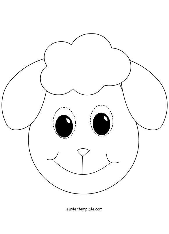 Lamb Mask template | VBS ideas | Pinterest | Mask template, Template ...
