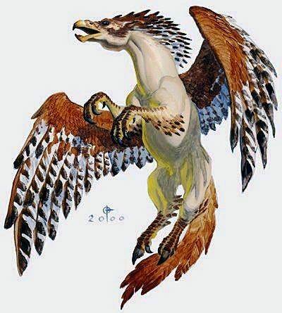 The hippogriff is a mythological hybrid that resembles a for Partes de un grifo
