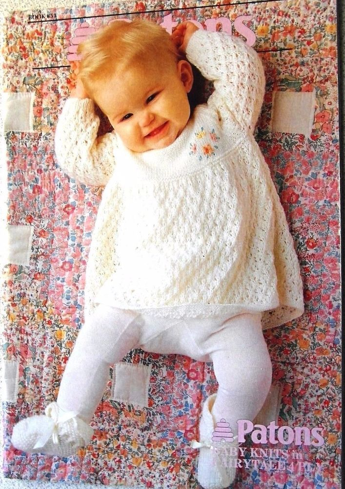 Patons Baby Knitting Pattern Book No851 Fairytale Bookbuz