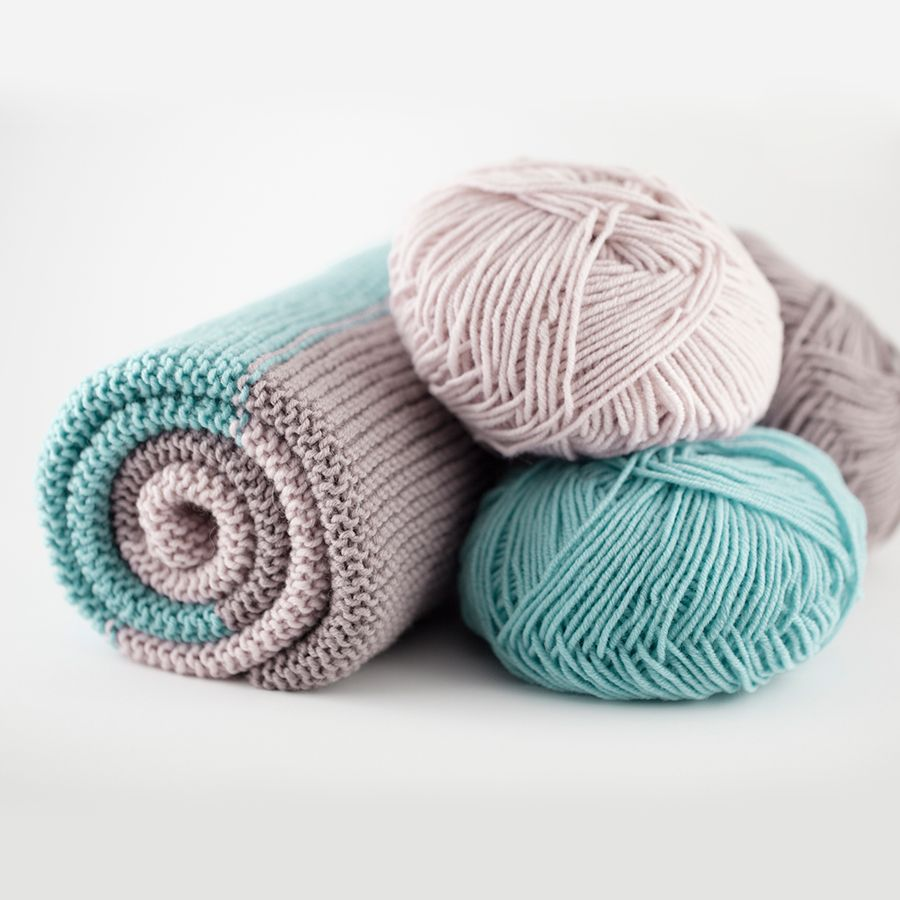 The Woven Simple Baby Blanket, knit in DK smooth twist merino ...