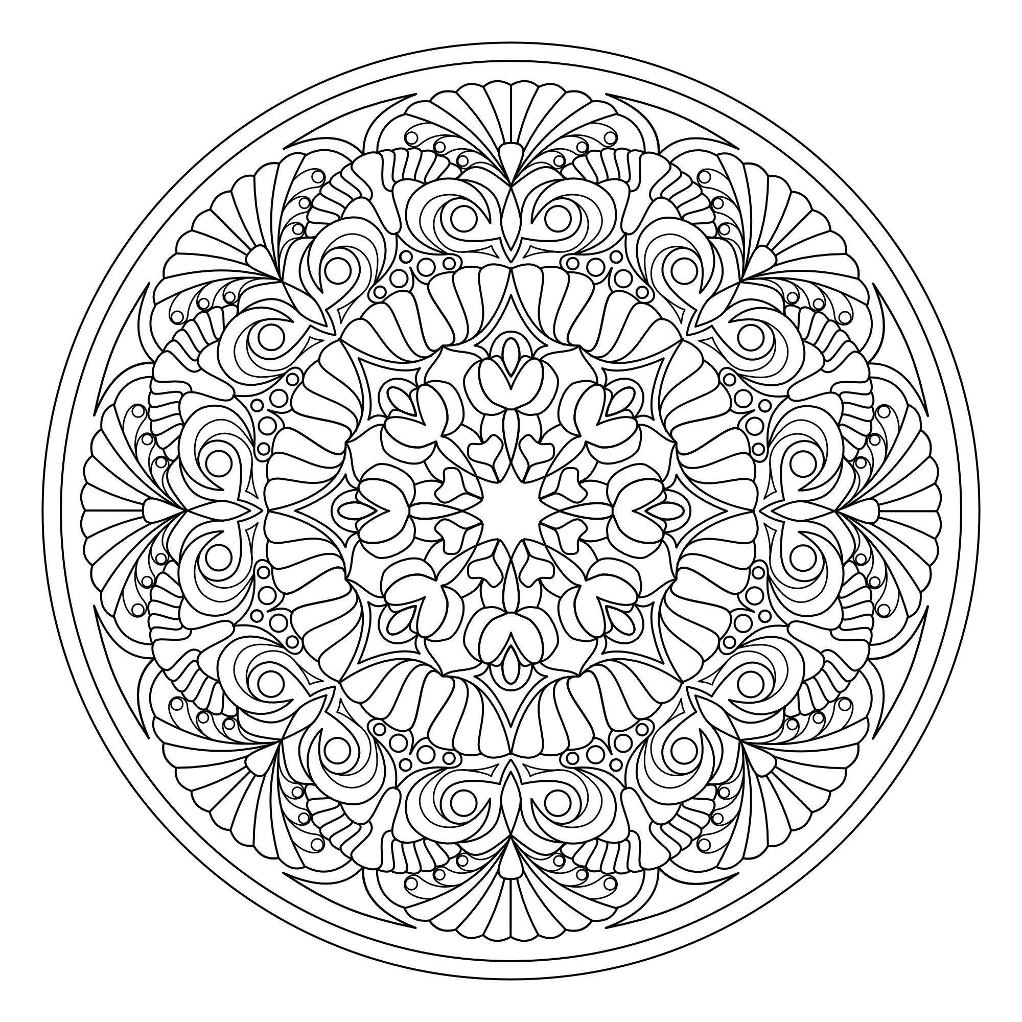 Mandala Madness Coloring Book No.7 Printable PDF Coloring ...