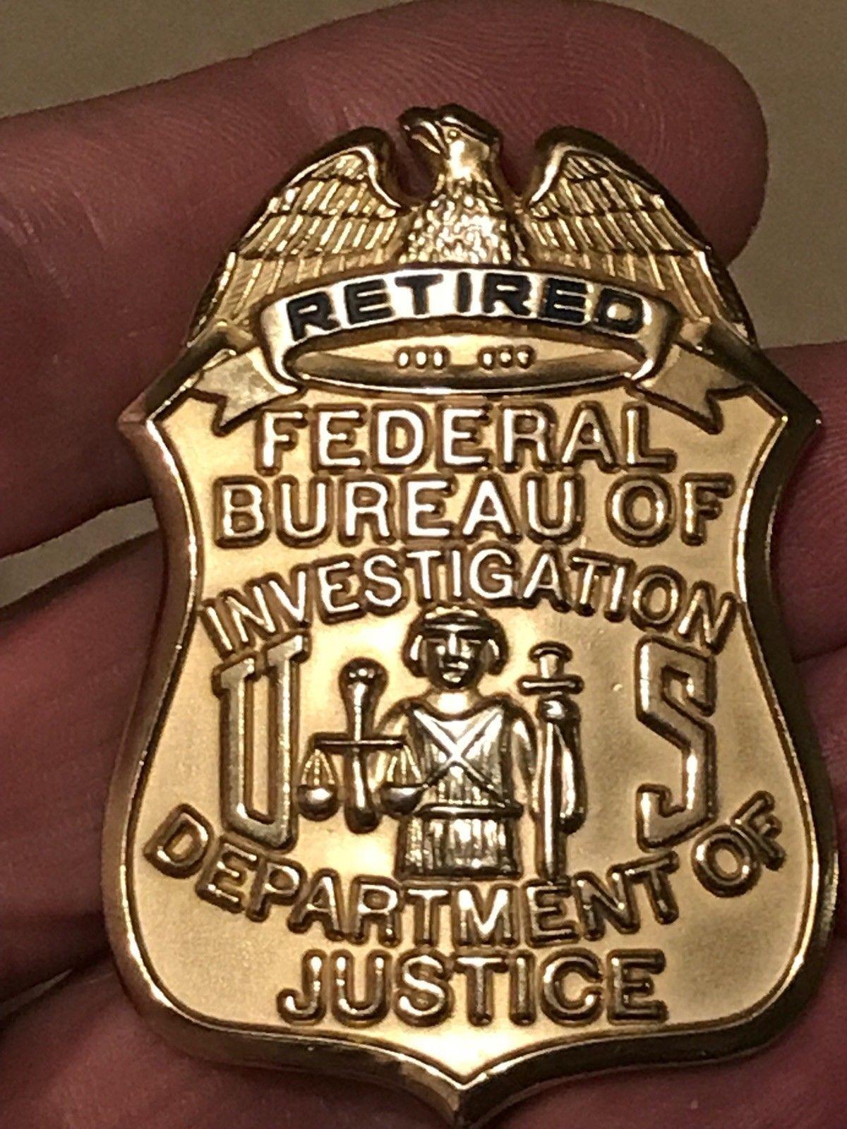 FBI Retired (SUN Badge) | badges | Fire badge, Police life, Badge