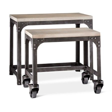 Franklin Industrial 2 Piece Nesting Tables The Industrial Shop