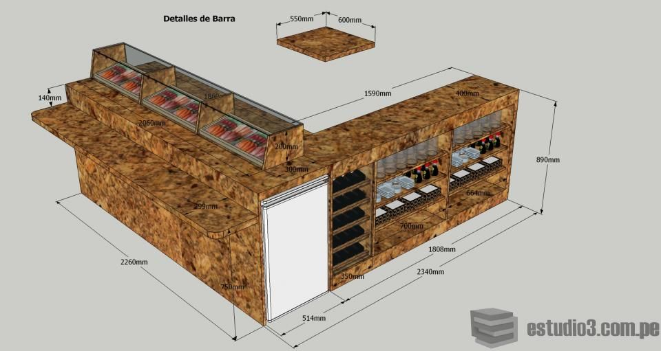 Sushi bar vivar sushi pinterest for Modelos de barras de bar