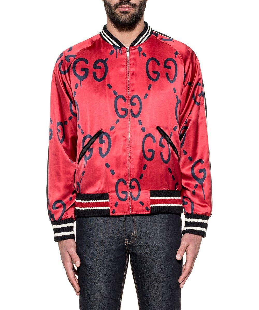 GUCCI Gucci Men S 453815Z420E6564 Black Red Viscose Outerwear Jacket .   gucci  cloth  coats   jackets 57174f8985dd
