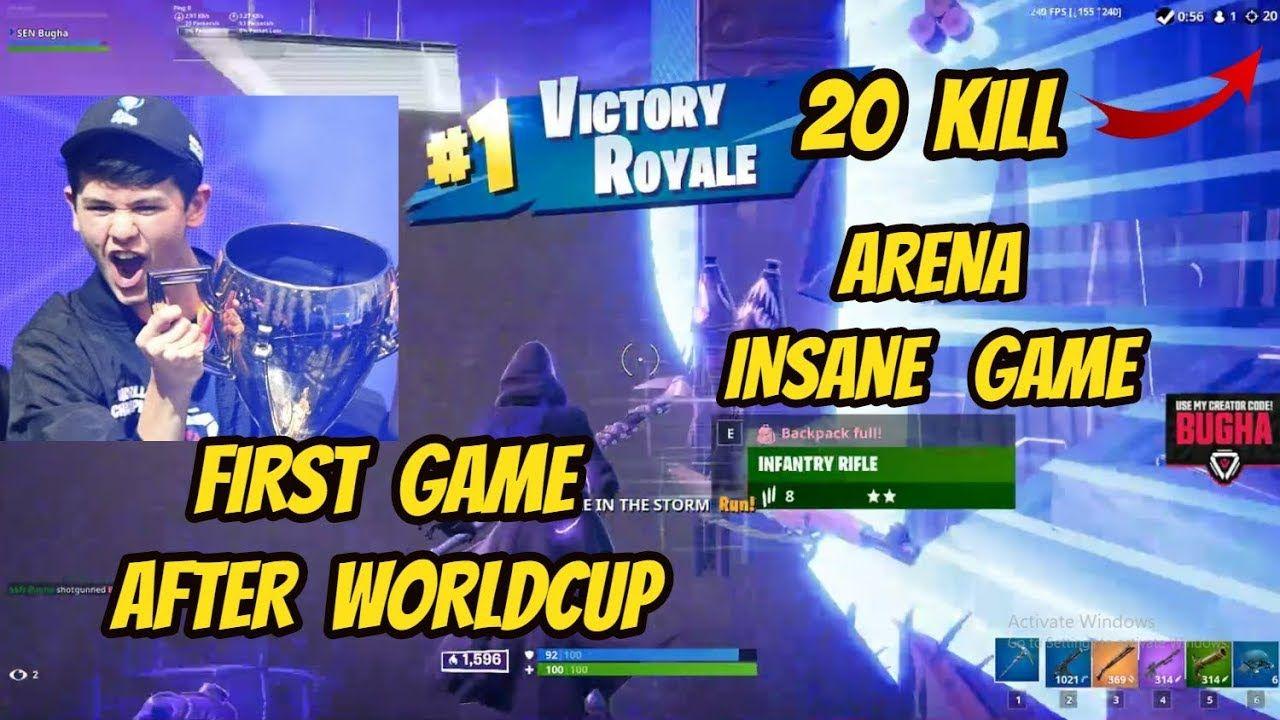 Sen Bugha Drops Insane 20 Kill Arena Intense Game Fortnite Intense Games Fortnite Arena