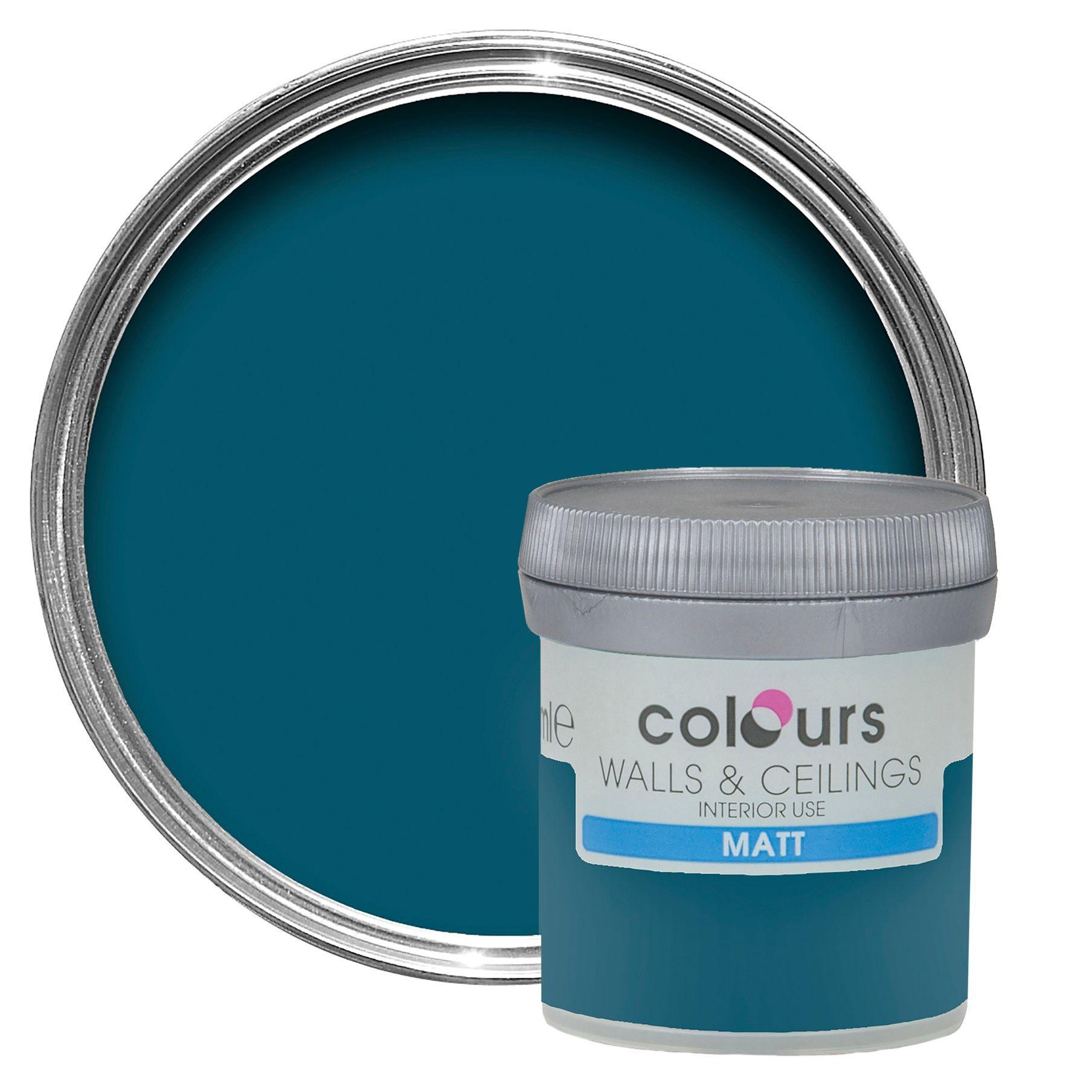 Colours Teal Temptation Matt Emulsion Paint 50ml Tester Pot Departments Diy At B Amp Q Painting Bathroom Bathroom Renovation Diy New Bathroom Ideas