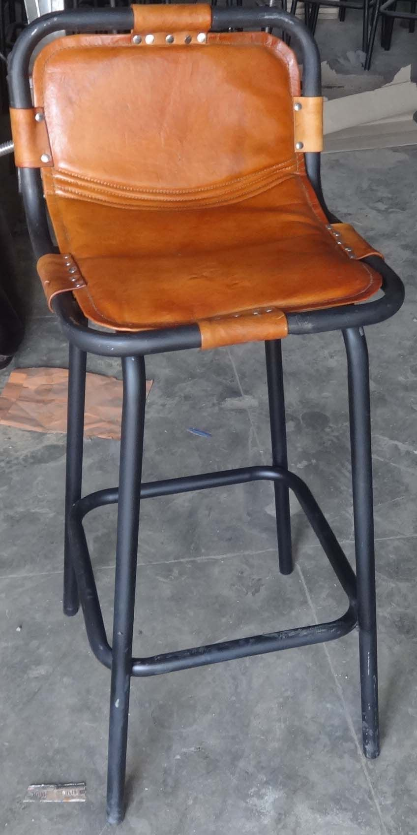 Industrial Leather Bar Chair. Hospitality Furniture