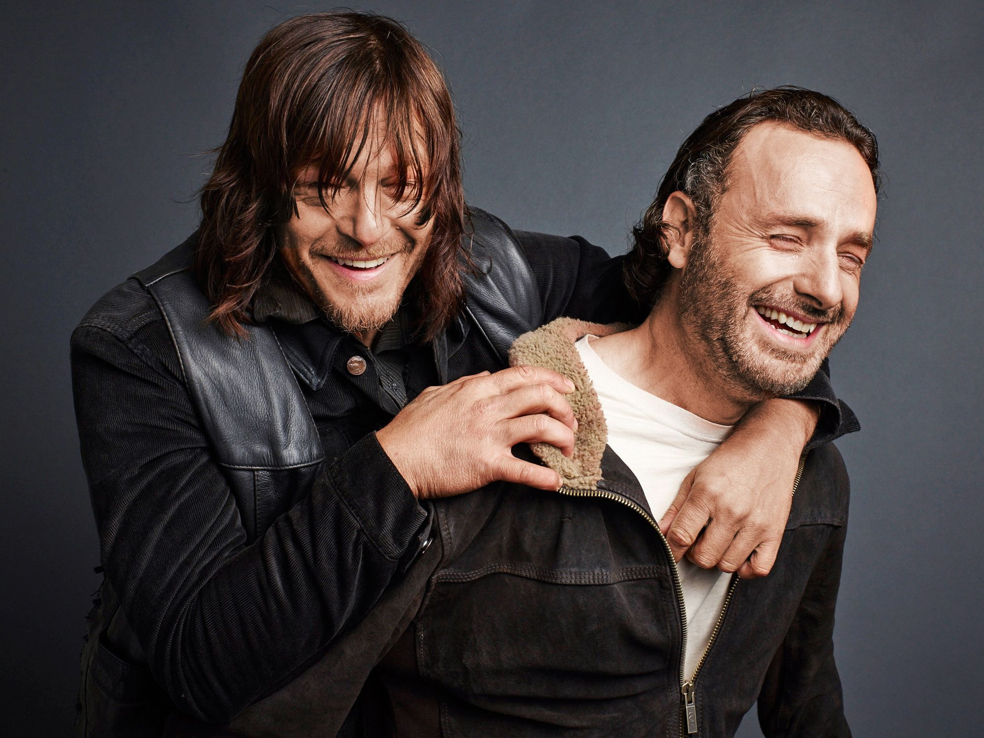 norman reedus & andrew lincoln, tv guide magazine | the walking