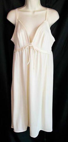 Vintage Shadowline Ivory Nightgown
