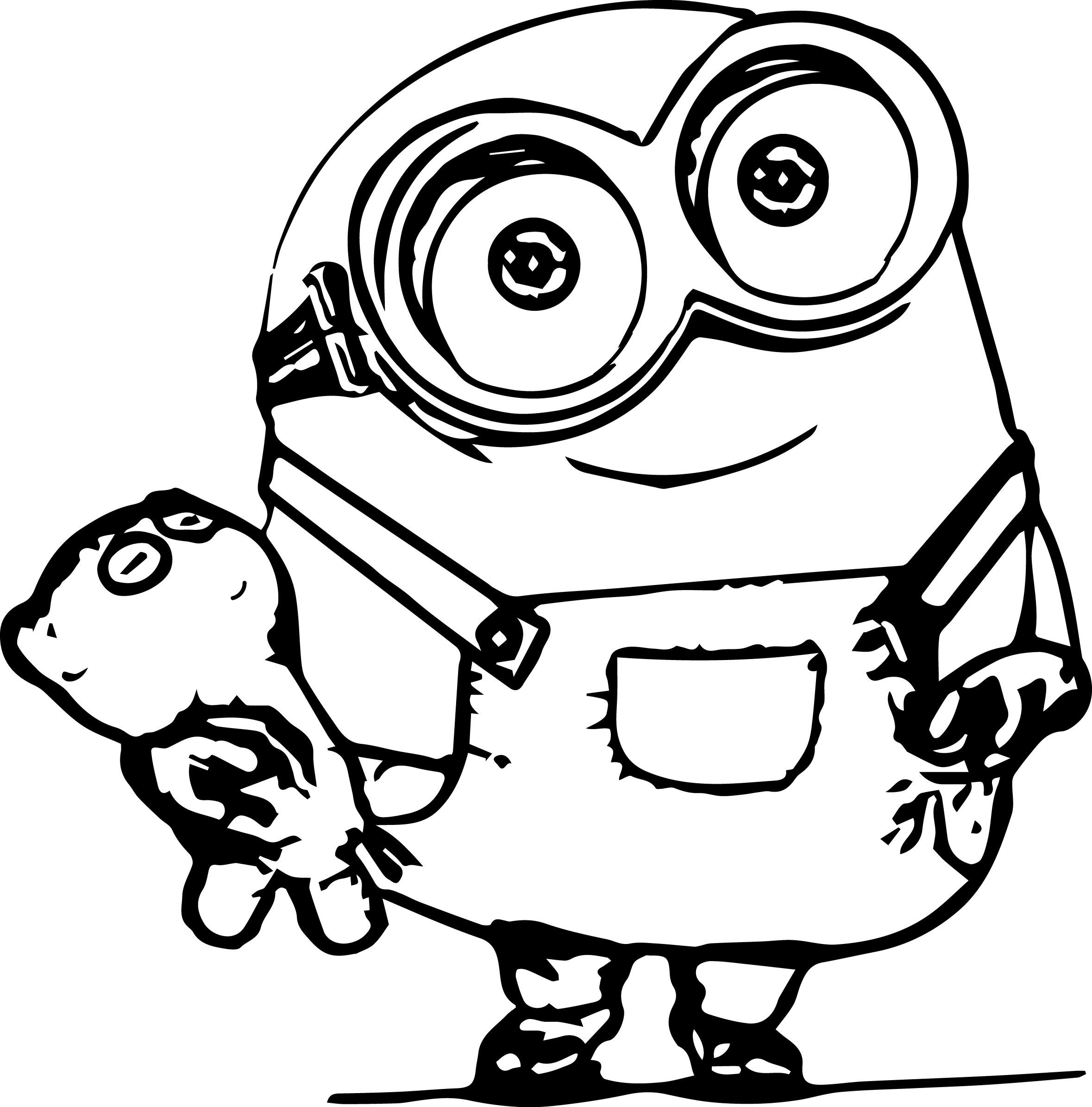 On online coloring minion - Awesome Minions Coloring Pages