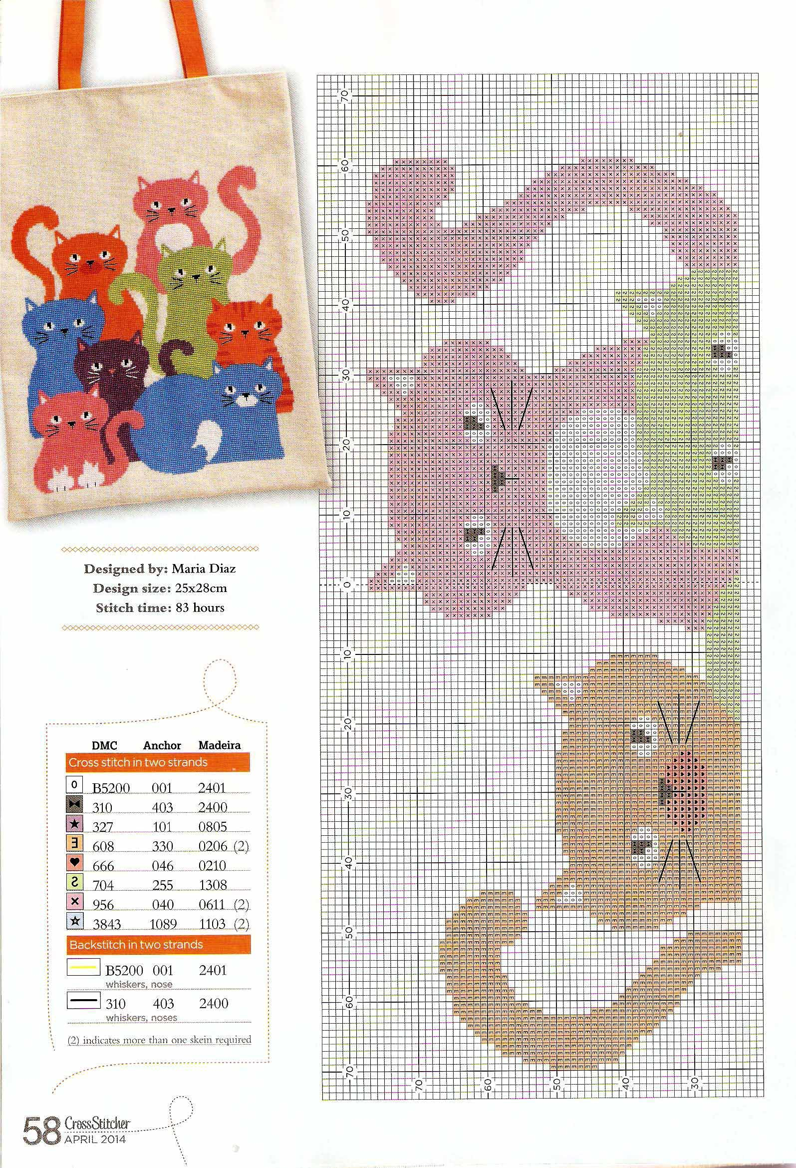 Cool cats 2 | punto cruz animales | Pinterest | Gato, Punto de cruz ...