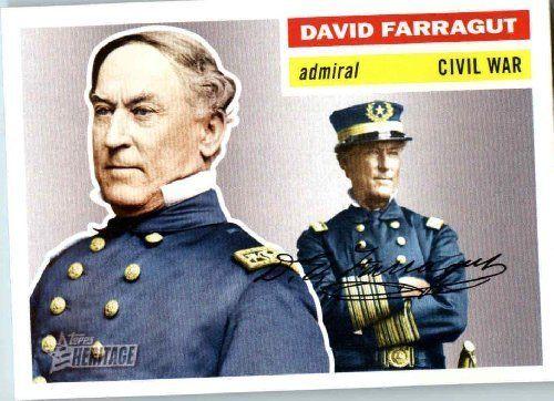 2009 Topps American Heritage Baseball Cards # 28 David Farragut (Admiral Civil War)(Military Leader) Trading Card by Topps. $1.87. 2009 Topps American Heritage Baseball Cards # 28 David Farragut (Admiral Civil War)(Military Leader) Trading Card