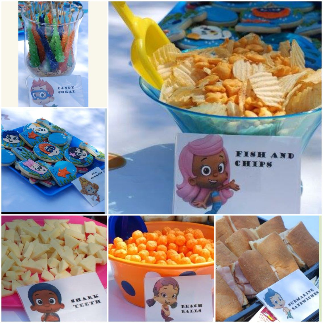 Our bubble guppies food! Bubble guppies party, Bubble