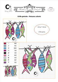 grille gratuite de point de croix poissons color s. Black Bedroom Furniture Sets. Home Design Ideas