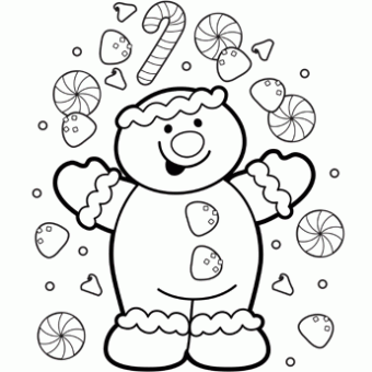 Coloring Page Gingerbread