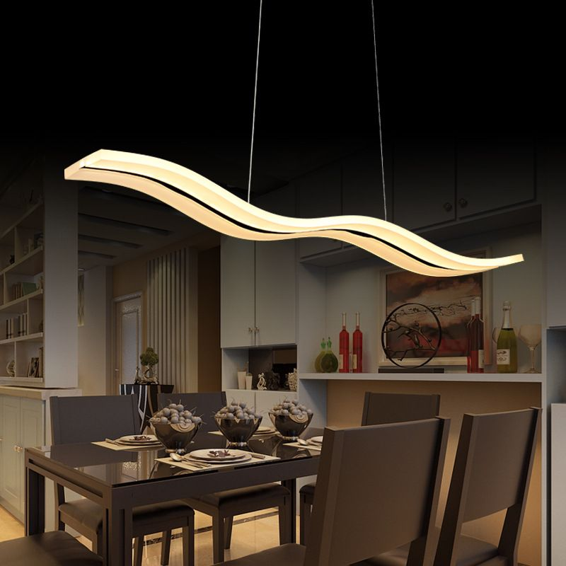 40W56W Led Pendant Lights Modern Kitchen Acrylic Suspension Amusing Hanging Dining Room Lights Decorating Design