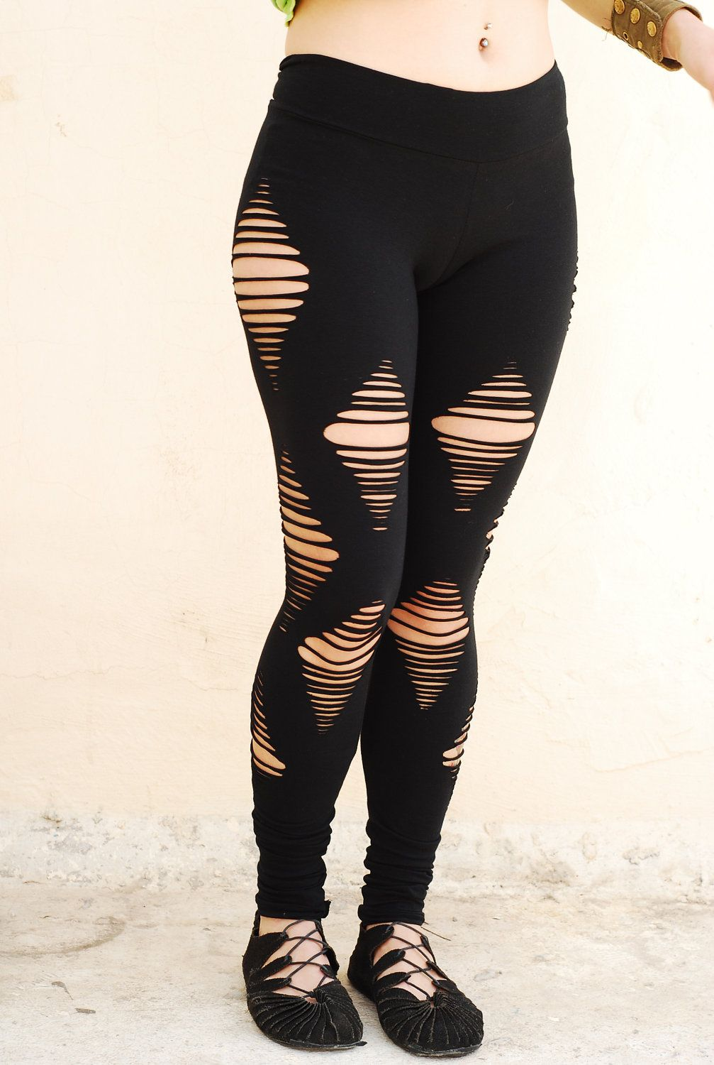 d61b61669b8a33 Cut Out Black Leggings | clothes | Diy ripped jeans, Cut out ...