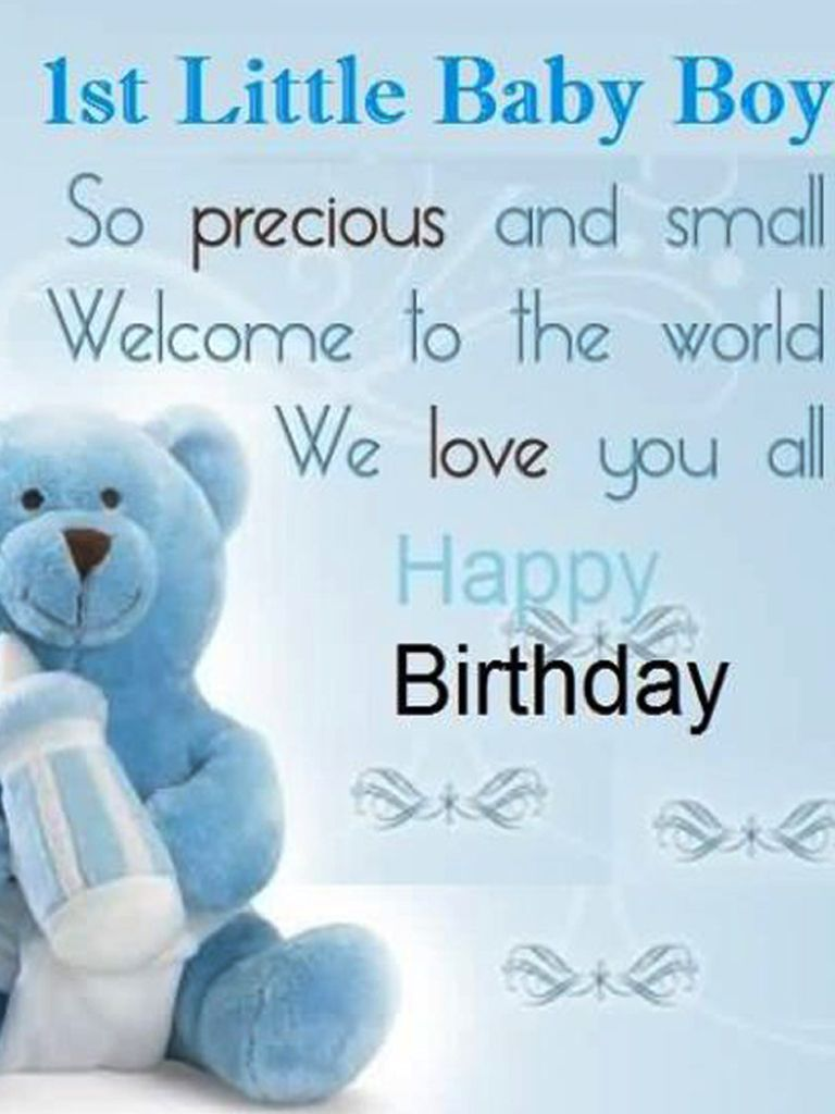 Happy 1st Birthday Wishes For Baby Boy Wishes For Baby Boy 1st