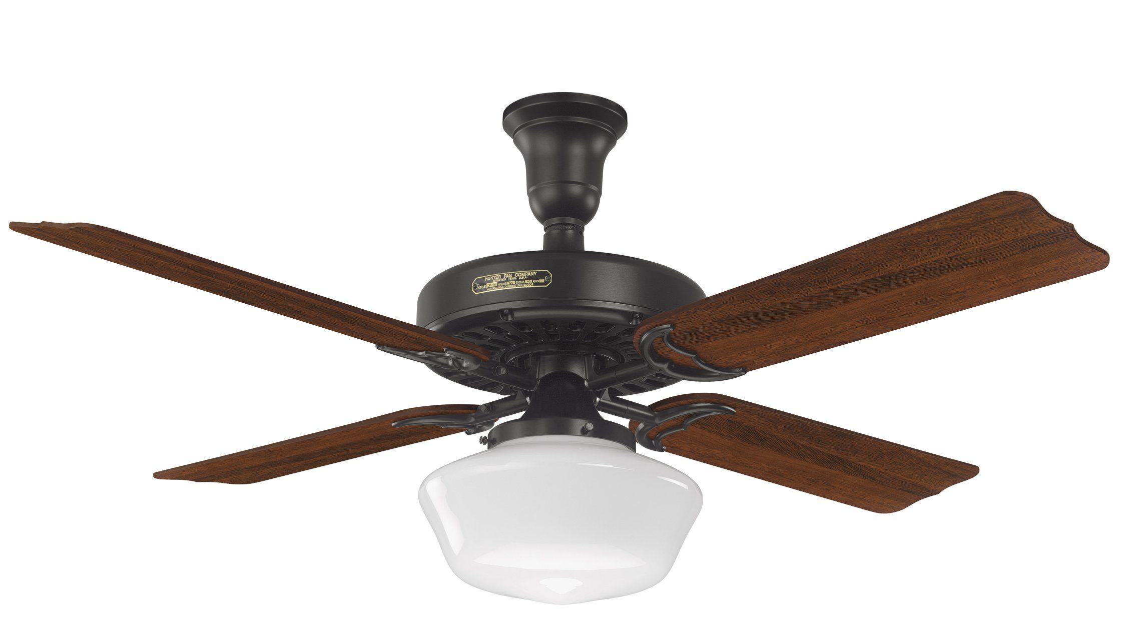 Says That There S A Lever To Adjust Blade Angle To See If The One In Shed Has That And If It Wo Ceiling Fan Hunter Ceiling Fans Black Ceiling Fan