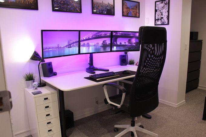 black white bedroom station gaming desk pinterest arbeitszimmer schlafzimmer und m bel. Black Bedroom Furniture Sets. Home Design Ideas