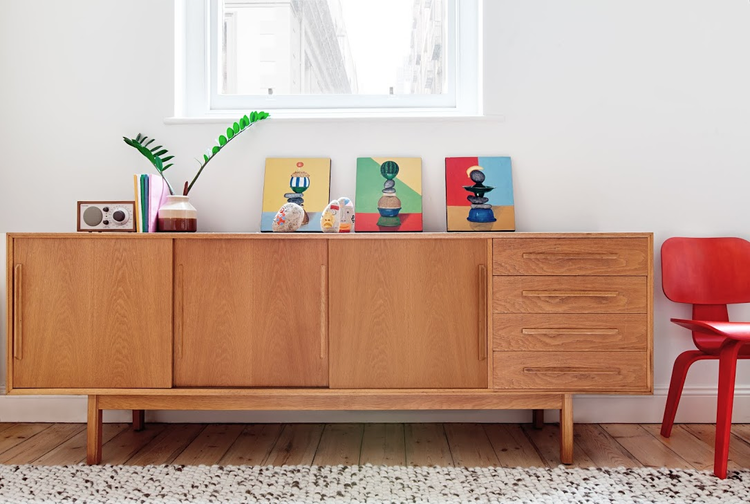 Melbourne Apartment Credenza in living room | SPACES | Pinterest ...