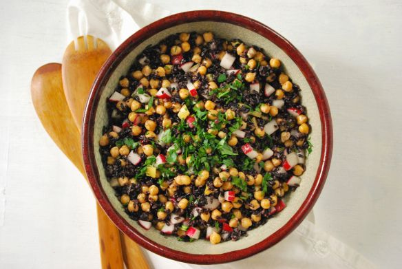Chickpea and Black Rice Salad via Relishing It