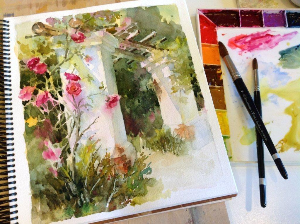 En Plein Air Watercolor art journal, Watercolor art