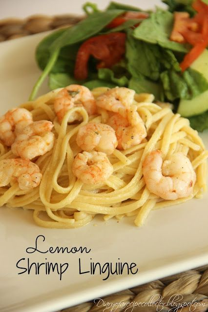Lemon Shrimp Linguine-So quick and easy! Great for a special weeknight supper or for a nice dinner with guests.