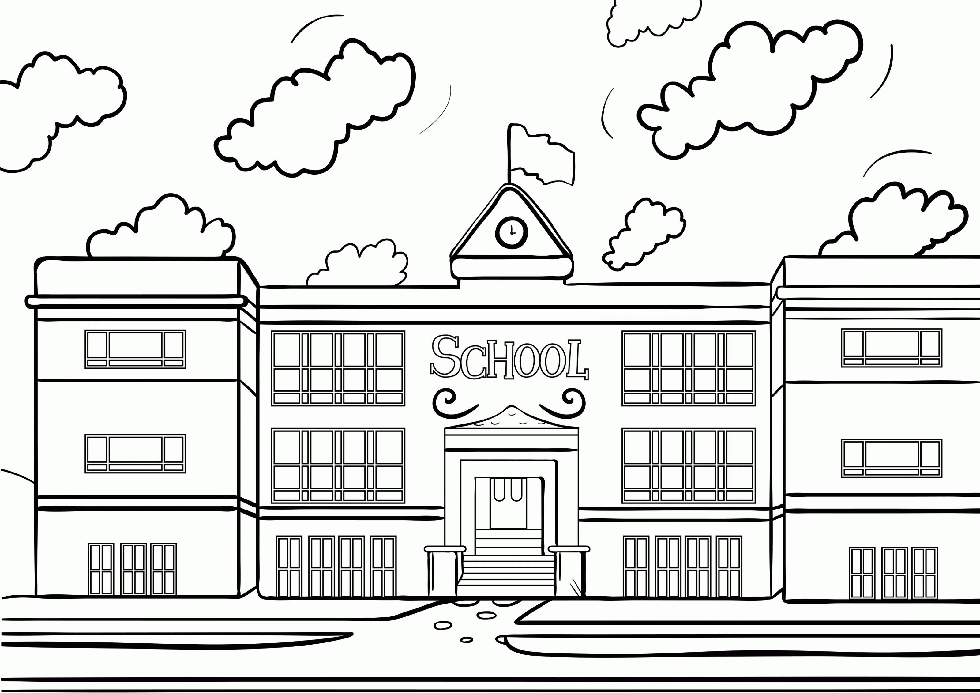 Coloring Pages A House School Coloring Pages Free Coloring Pages Coloring Pages
