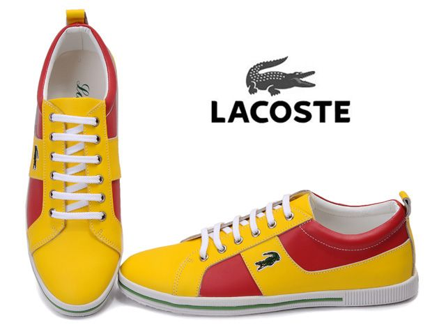 Lacoste Mens Sneaker Yellow Red