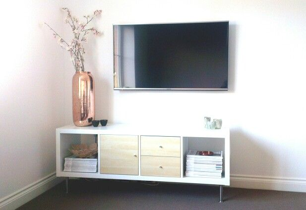 tv stand ikea kallax decor pinterest muebles de comedor muebles y hogar. Black Bedroom Furniture Sets. Home Design Ideas