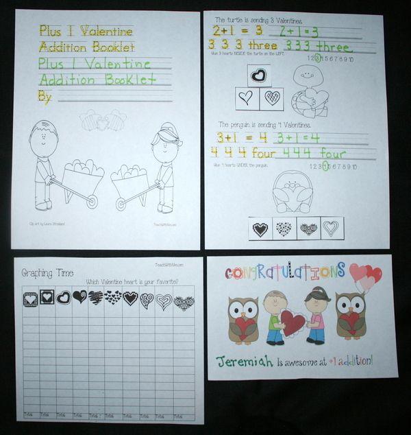 Valentine activities: Plus 1 Valentine Addition Easy Reader. FREE ...